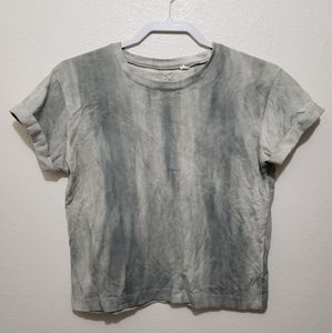 PacSun Grey Marbled Cropped T-shirt